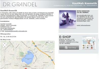 Hier gelangen Sie in den Online-Shop von Hautnah Kosmetik Schroeder